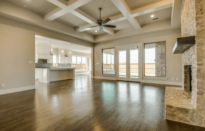 Southgate Homes Plan Madison Great Room in The Grove Frisco