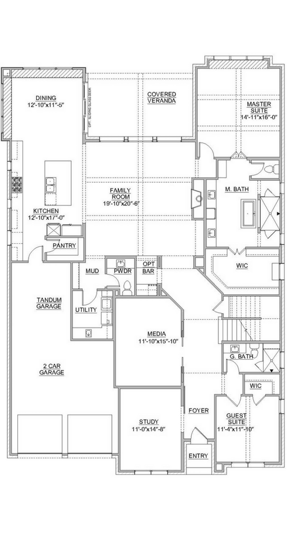 Southgate Homes Madison Floorplan in The Grove Frisco