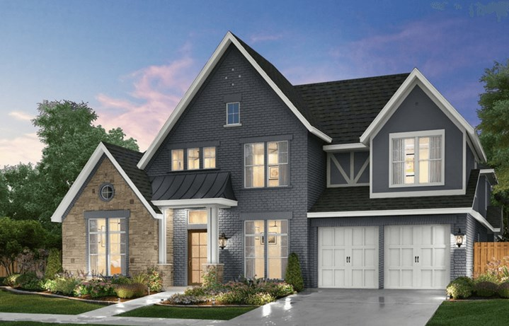 Southgate Homes Plan Montgomery Elevation in The Grove Frisco