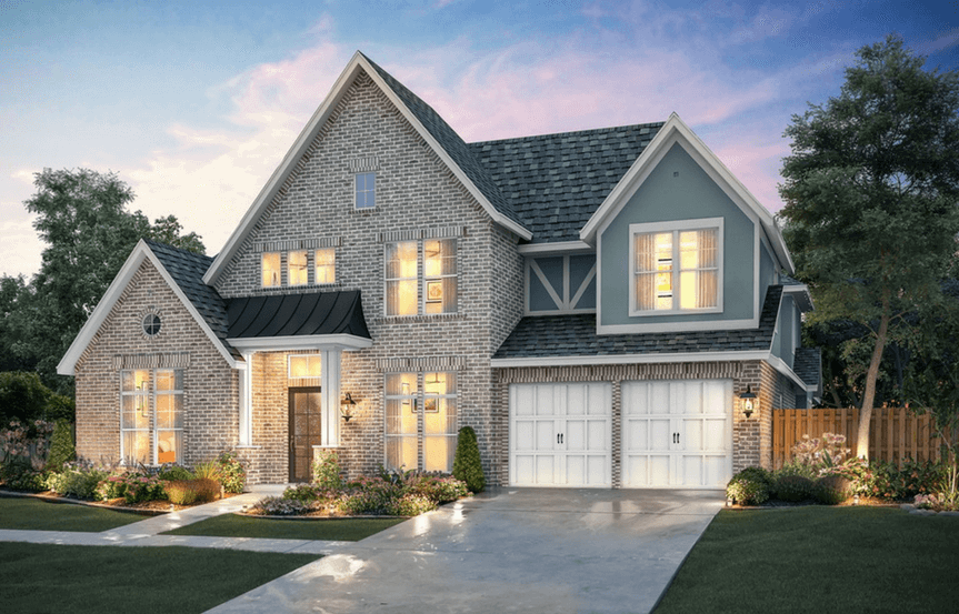 Southgate Homes Plan Montgomery Elevation A in The Grove Frisco