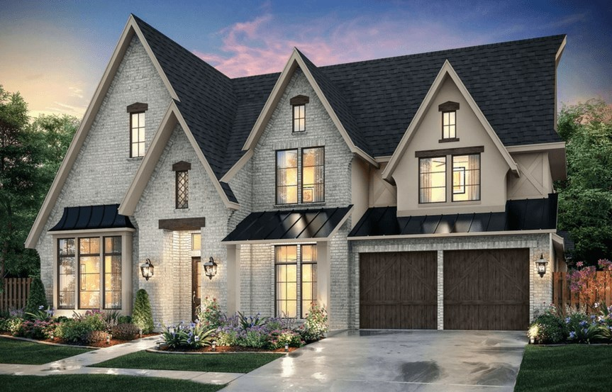 Southgate Homes Plan Montgomery Elevation B in The Grove Frisco