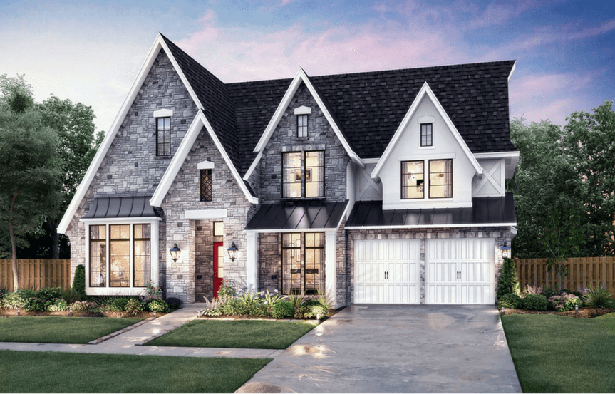 Southgate Homes Plan Montgomery Elevation Stone in The Grove Frisco