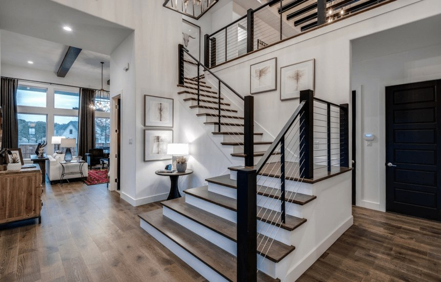 Southgate Homes Plan Montgomery Stairway in The Grove Frisco