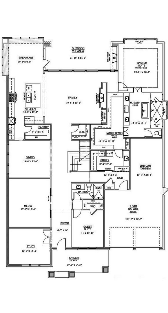 Southgate Homes Montgomery Floorplan in The Grove Frisco