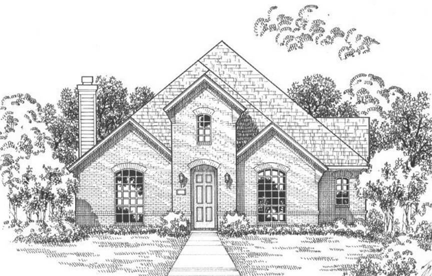 American Legend Plan 1553 Elevation A in The Grove Frisco
