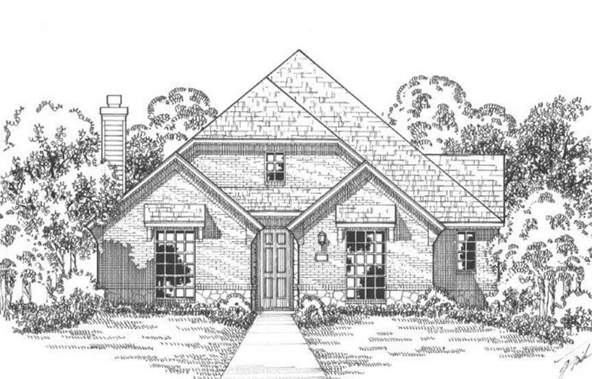 American Legend Plan 1553 Elevation B in The Grove Frisco