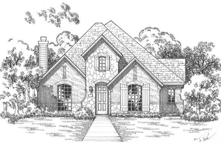 American Legend Plan 1553 Elevation C Stone in The Grove Frisco