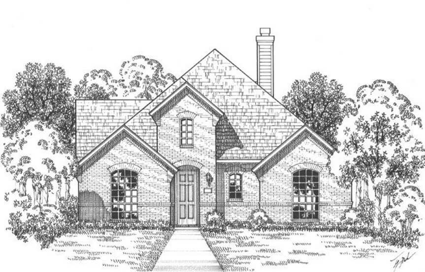 American Legend Plan 1552 Elevation A in The Grove Frisco