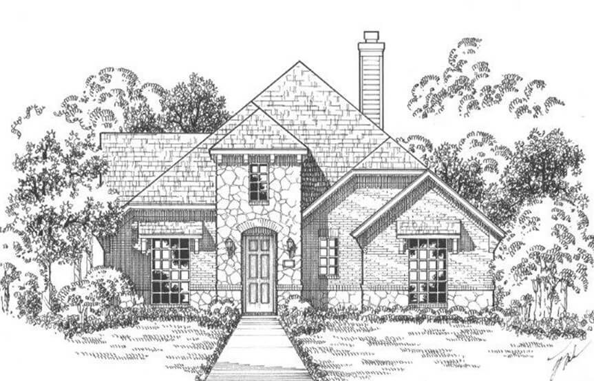 American Legend Plan 1552 Elevation B Stone in The Grove Frisco