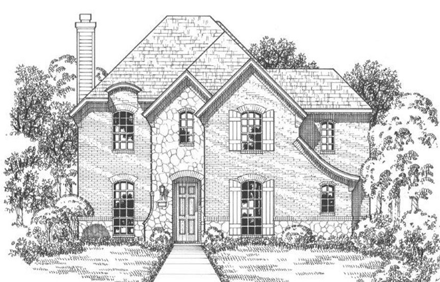 American Legend Plan 1558 Elevation C Stone in The Grove Frisco