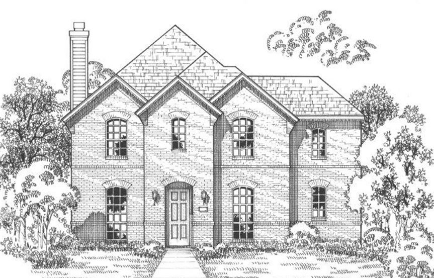 American Legend Plan 1558 Elevation A in The Grove Frisco