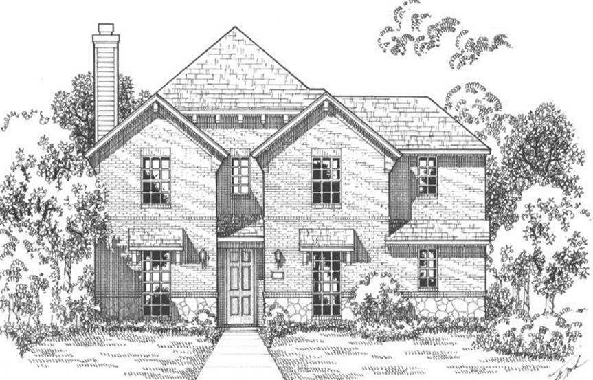 American Legend Plan 1558 Elevation B in The Grove Frisco