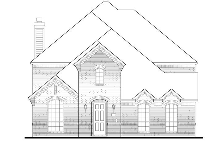 American Legend Plan 1557 Elevation A Brick in The Grove Frisco