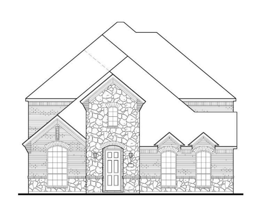 American Legend Plan 1557 Elevation A Stone in The Grove Frisco