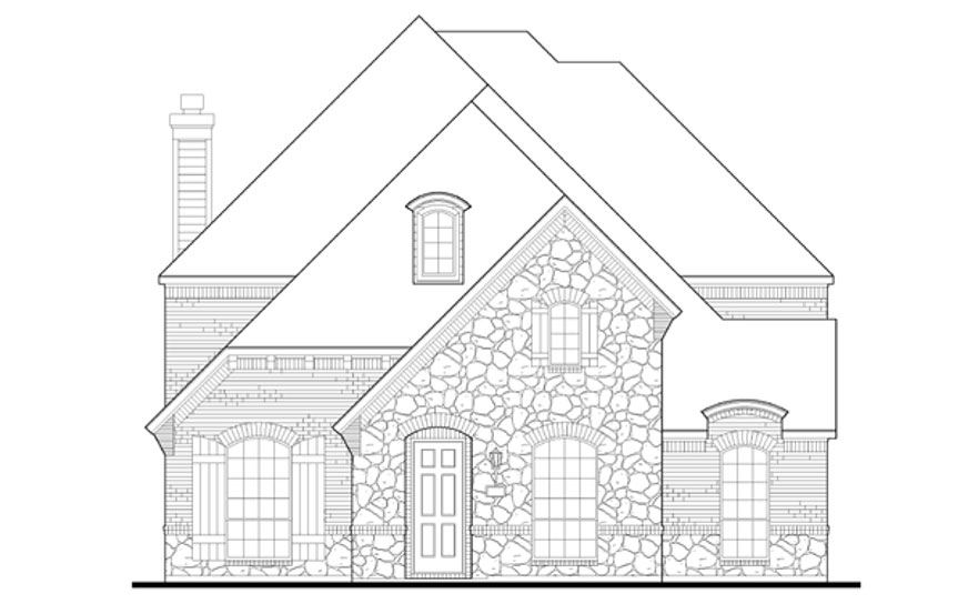 American Legend Plan 1557 Elevation C in The Grove Frisco