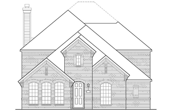 American Legend Plan 1554 Elevation A in The Grove Frisco
