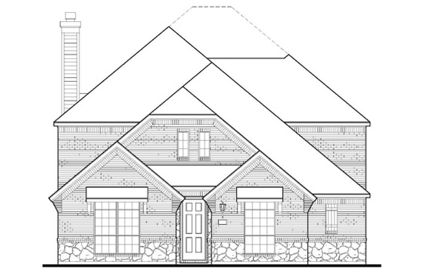 American Legend Plan 1554 Elevation B in The Grove Frisco