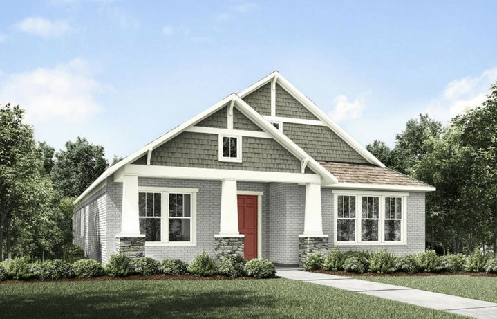 Drees Homes Plan Ambrosia Elevation A in The Grove Frisco