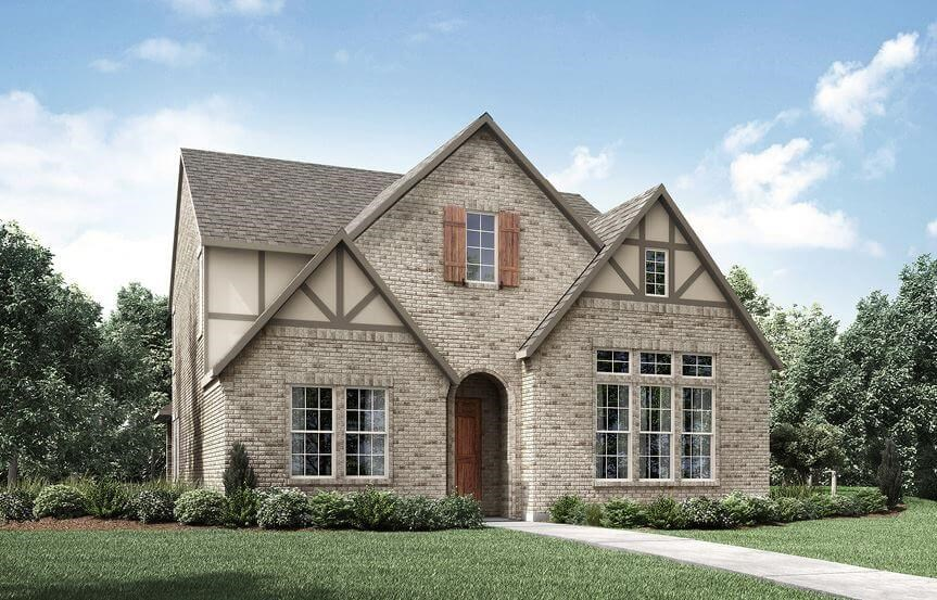 Drees Homes Plan Kamelia Elevation A in The Grove Frisco