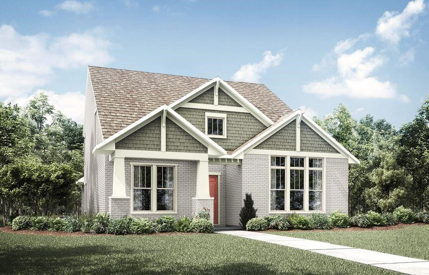 Drees Homes Plan Kamelia Elevation B in The Grove Frisco