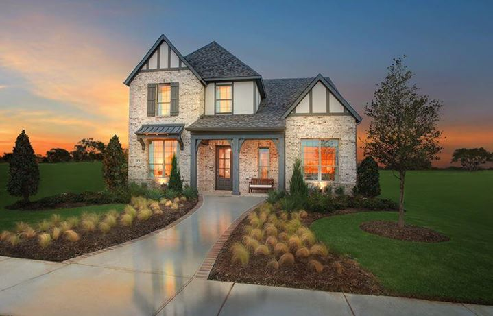 Drees Homes Plan Marigold Elevation A in The Grove Frisco