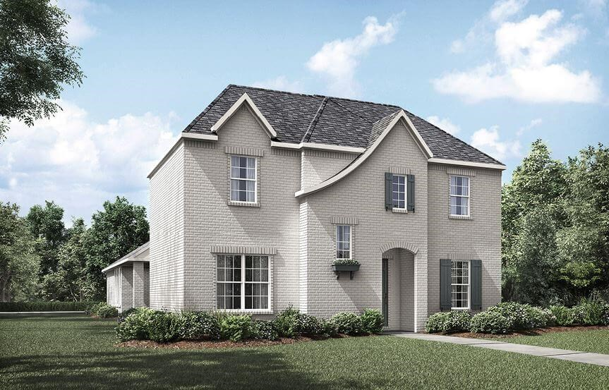 Drees Homes Plan Violet Elevation A in The Grove Frisco