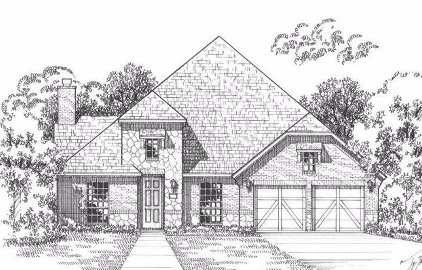 American Legend Plan 1619 Elevation B Stone in The Grove Frisco