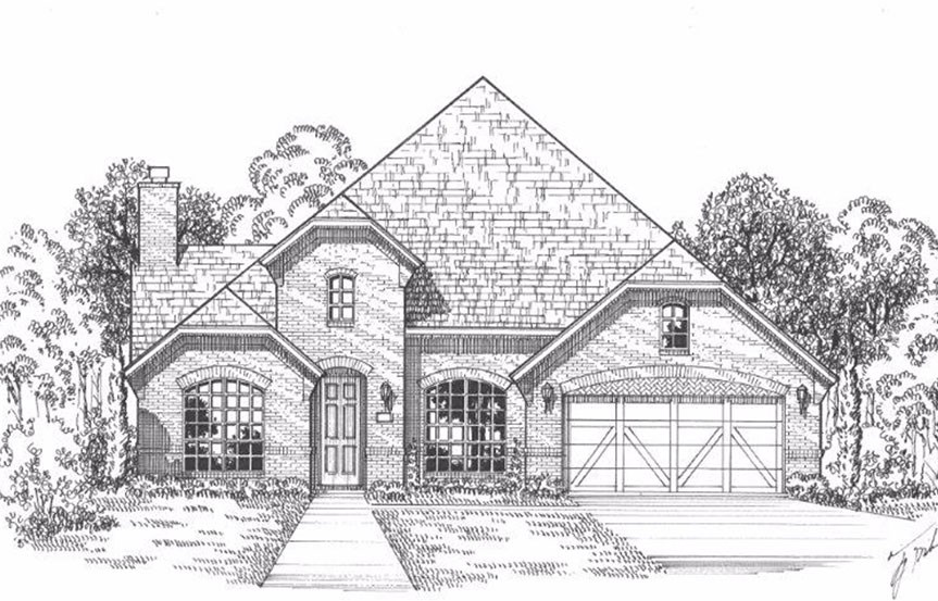 American Legend Plan 1619 Elevation A in The Grove Frisco