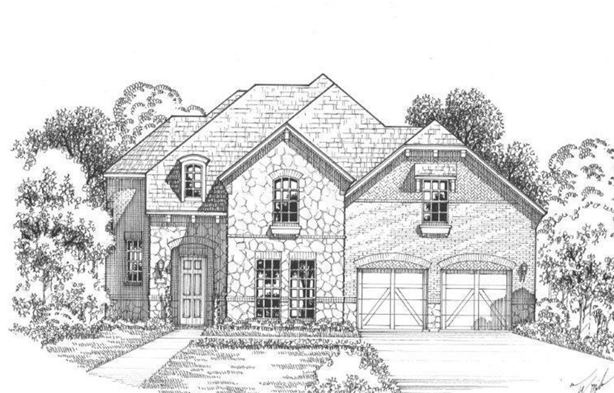 American Legend Plan 1607 Elevation B Stone in The Grove Frisco