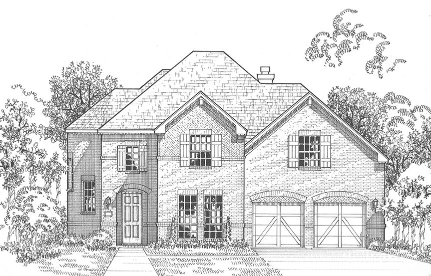 American Legend Plan 1607 Elevation A in The Grove Frisco