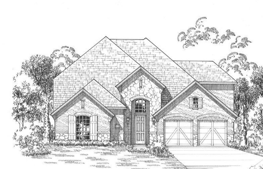 American Legend Plan 1609 Elevation C Stone in The Grove Frisco