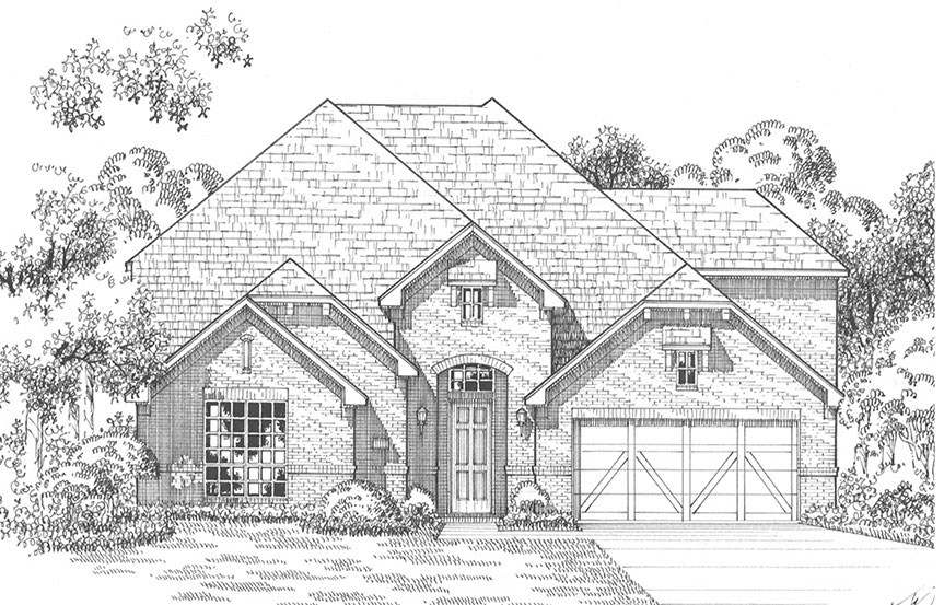 American Legend Plan 1609 Elevation A in The Grove Frisco