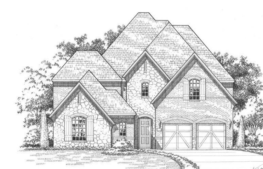 American Legend Plan 609 Elevation C Stone in The Grove Frisco