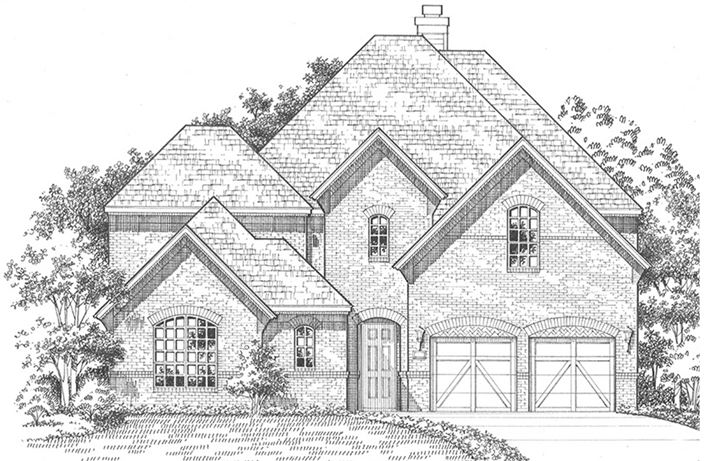 American Legend Plan 609 Elevation A in The Grove Frisco