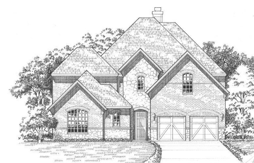 American Legend Plan 609 Elevation A Stone in The Grove Frisco