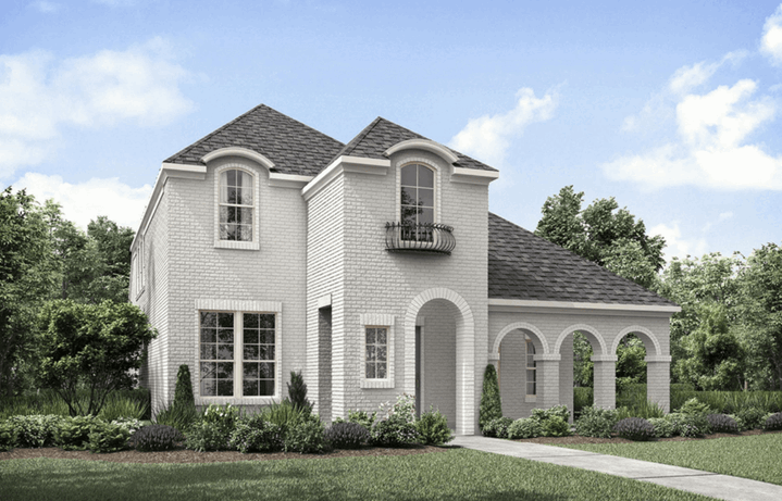 Drees Homes Plan Briallen Elevation A in The Grove Frisco