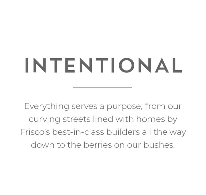 Intentional - Everything serves a purpose with curved streets and top builders