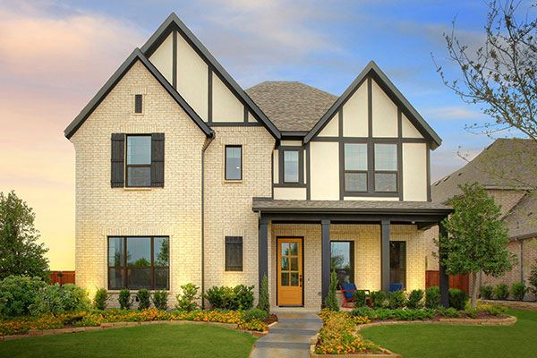 Drees Custom Homes Model Exterior at The Grove Frisco