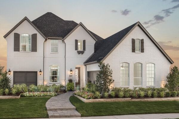 Model Home Exterior by American Legend Homes at The Grove Frisco