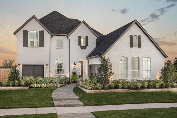 American Legend Homes Plan 1554 Model Exterior at The Grove Frisco