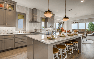 Model home kitchen - Madison III by Southgate Homes at The Grove Frisco
