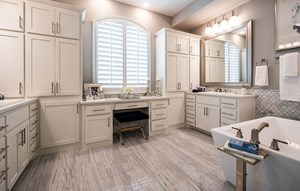 Model home master bathroom - Highland Homes at The Grove Frisco