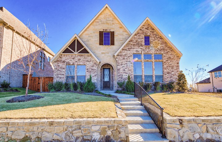 Drees Homes Plan Kamelia Elevation in The Grove Frisco