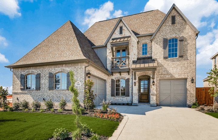 Southgate Homes Plan Sutton Elevation in The Grove Frisco