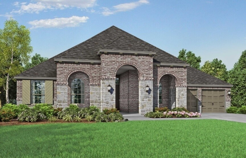 Highland Homes at The Grove Frisco - Plan 271 - Elevation B