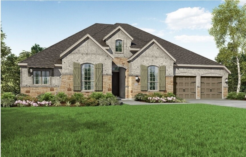 Highland Homes at The Grove Frisco - Plan 271 - Elevation A