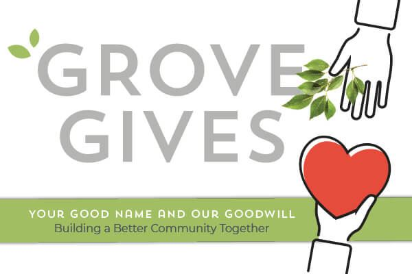 Grove Gives agent program | The Grove Frisco in Texas