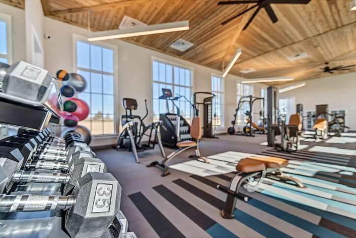 Fitness center at The Grove Frisco in Texas