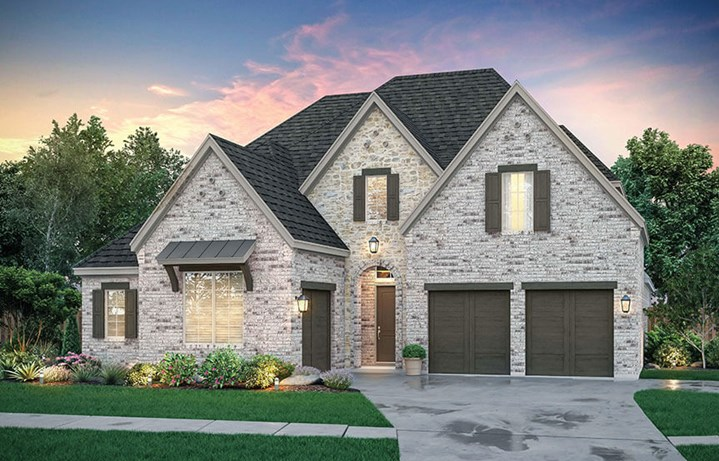 Brenham Elevation A by Southgate Homes at The Grove Frisco