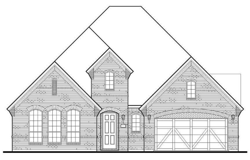 American Legend Plan 1631 Elevation A in TGF